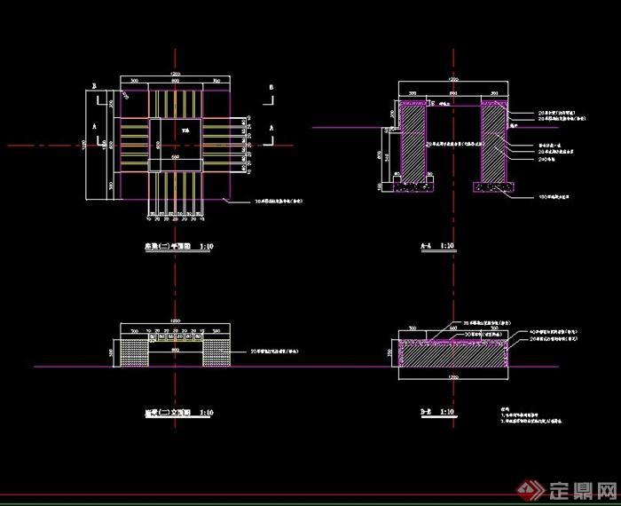 十字坐凳设计cad施工图