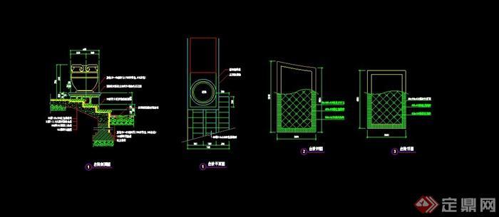 花钵台阶设计cad施工图