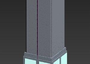 景观柱设计3DMAX模型