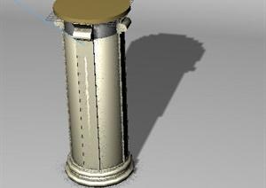 圆柱形景观柱设计3DMAX模型