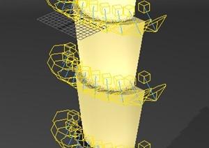 层叠景观柱设计3DMAX模型