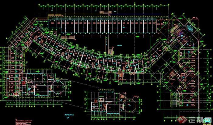 某新古典高层商住房建筑设计cad方案图