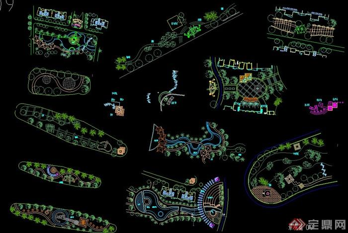 园林景观规划设计植物配置素材cad图