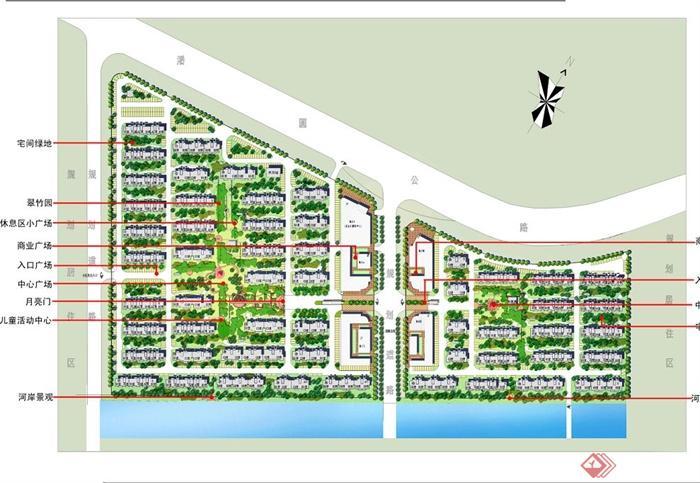某镇配套商品中式住宅房建筑与景观设计jpg方案图[原创]