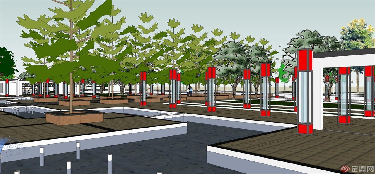 风情商业街景观设计