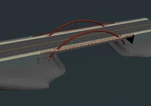交通桥设计3DS模型