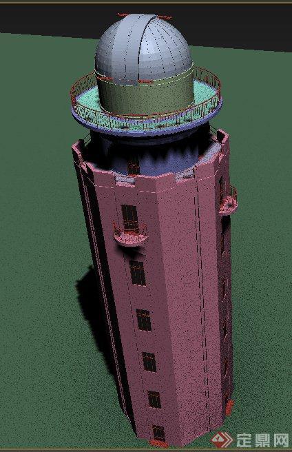 塔房建筑设计3ds模型
