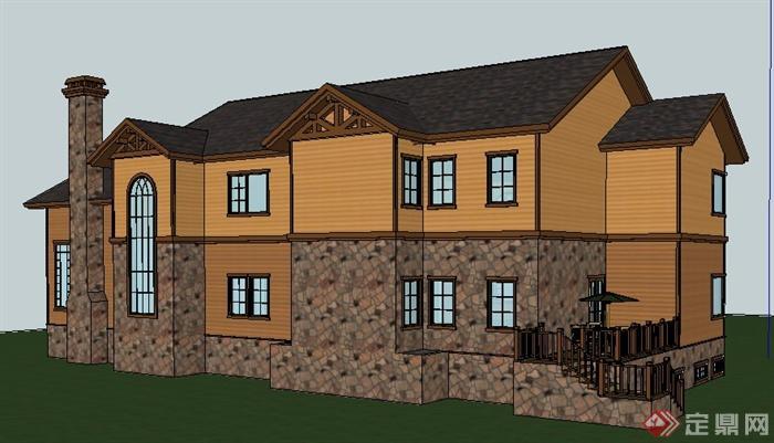 北欧乡村别墅住宅建筑设计su模型