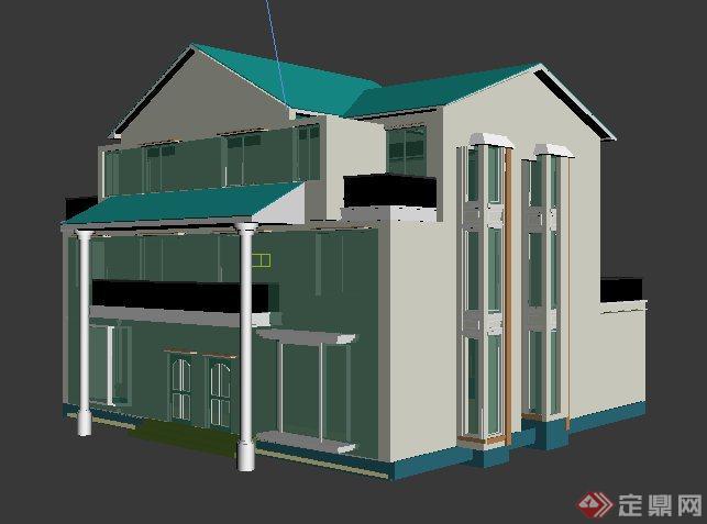 现代风格私人别墅建筑设计3dmax模型