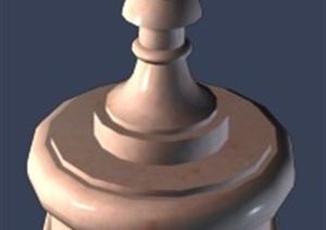 鲜花柱花钵设计3DMAX模型
