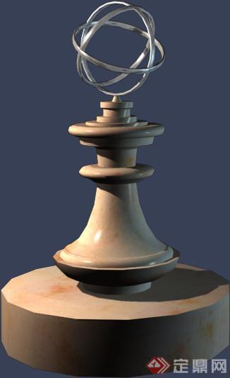 雕塑小品设计3dmax模型(1)