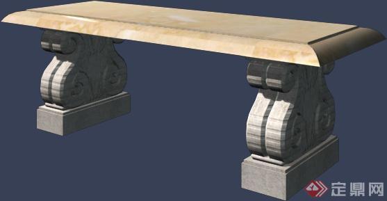 欧式石条凳设计3dmax模型