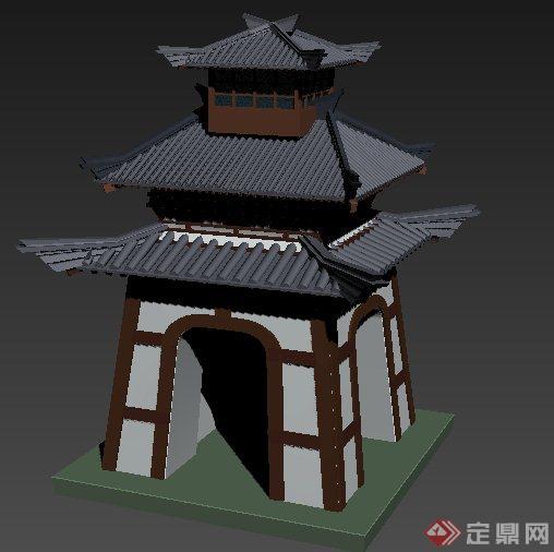 古典中式风格古建塔楼3dmax模型