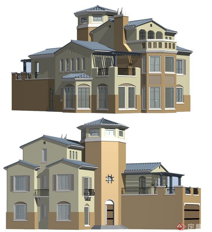 欧式豪华别墅建筑3dmax模型