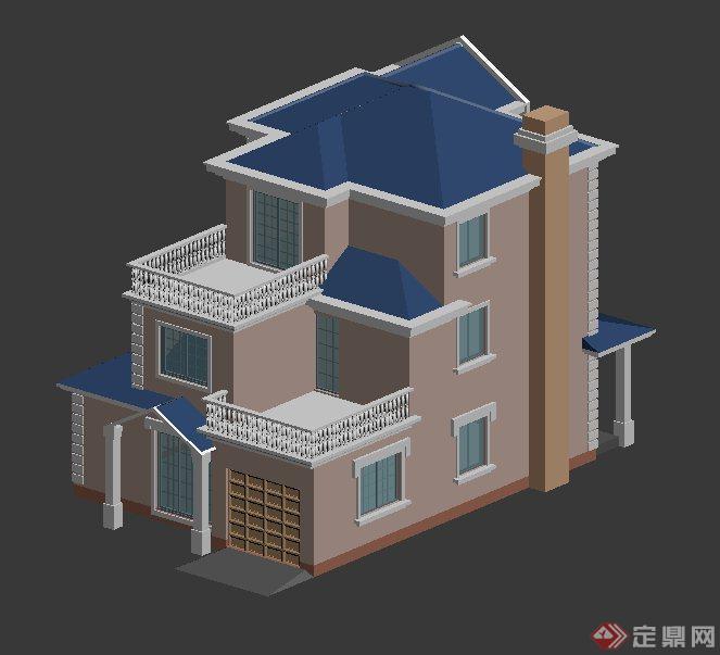 现代别墅建筑设计3DMAX模型