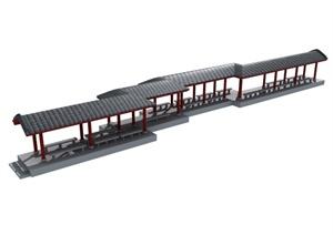中式廊架设计MAX模型