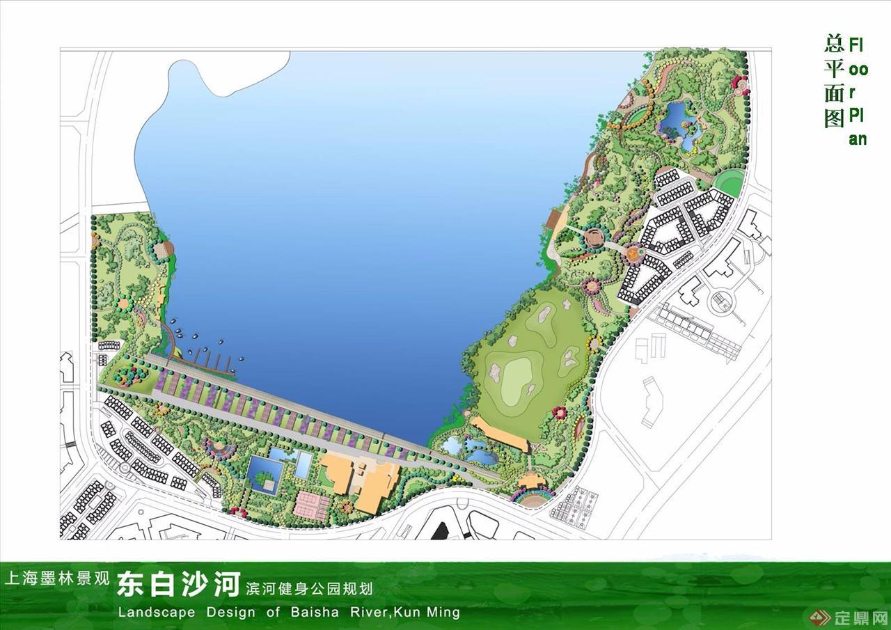 滨河平面图手绘