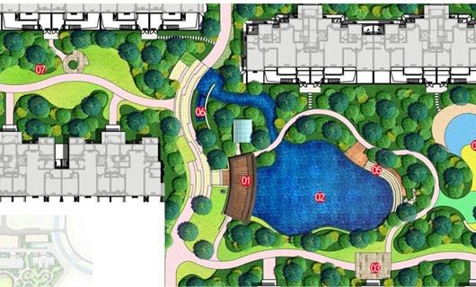 某居住区示范区景观设计