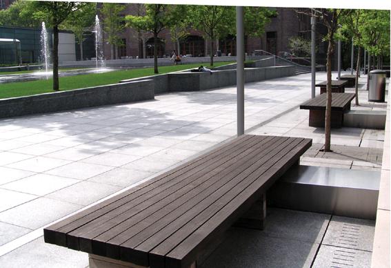 住宅庭院景观设计图-坐凳园路地面铺装花池草坪乔木