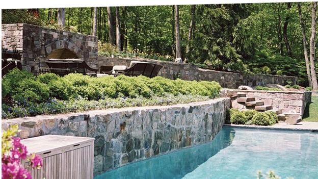 某别墅庭院景观设计图-水池壁植物水体-设计师图库
