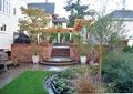 庭院景观,台阶,花架,桌椅,花池,植物