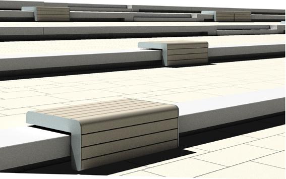 滨水景观设计图-台阶坐凳-设计师图库