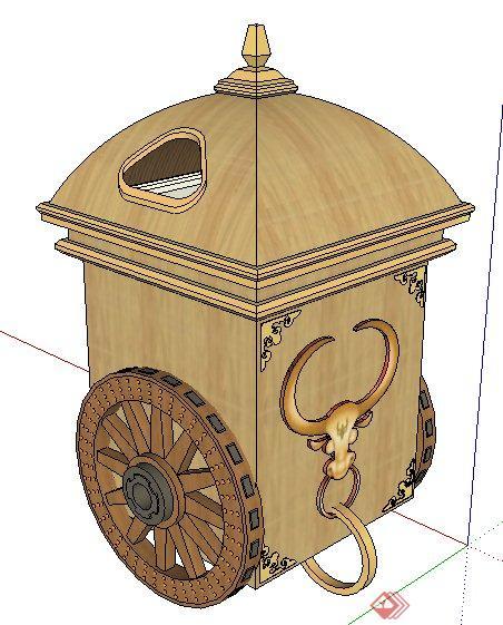 现代创意垃圾桶设计su模型