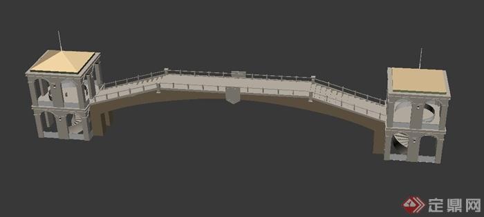 景观拱桥设计3dmax模型