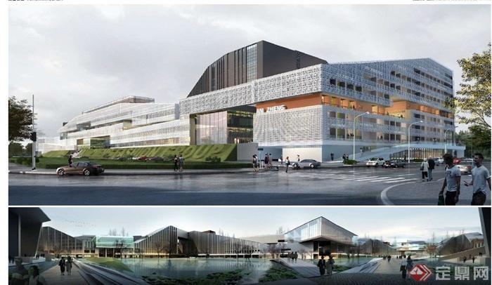 现代某高层天眼公共v高层建筑设计PDF文本埃德莫菲建筑设计经典图片
