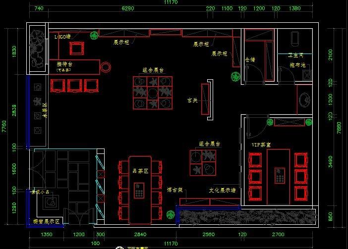 茶馆室内设计施工图纸