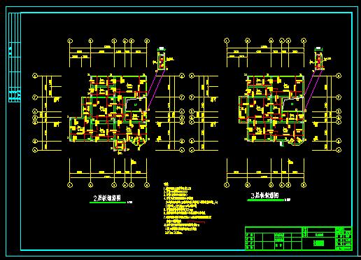 某三层欧式别墅建筑设计CAD施工图与结构图