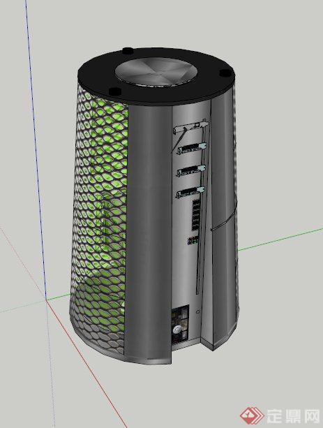 智能垃圾桶设计su模型