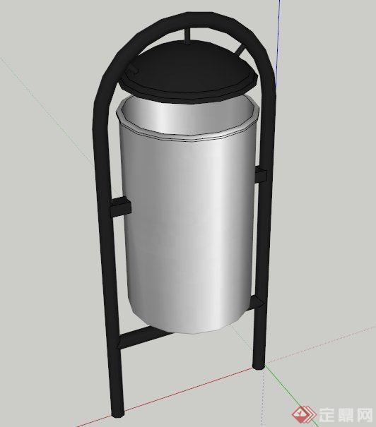 现代特色垃圾桶设计su模型