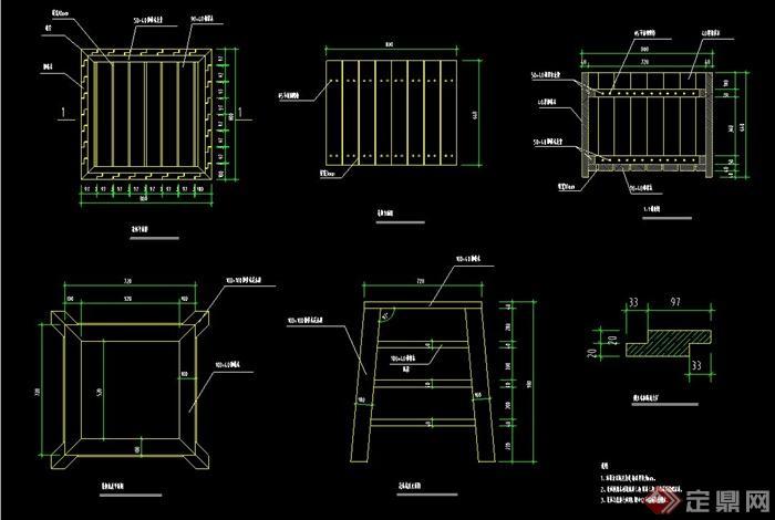 多款花钵,花池,花柱,花坛,组合花坛,坐凳花坛设计cad施工图