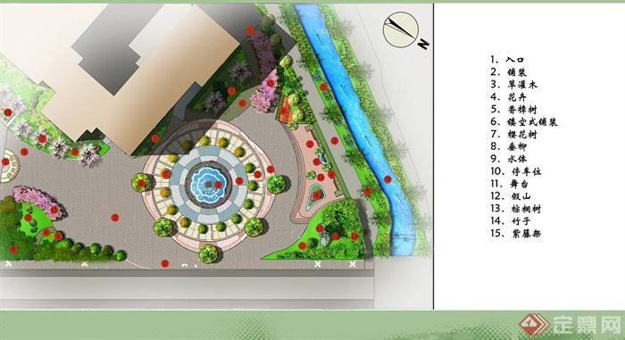 现代某学校广场景观设计jpg方案图[原创]