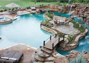 20个漂亮的室外游泳池设计JPG设计图