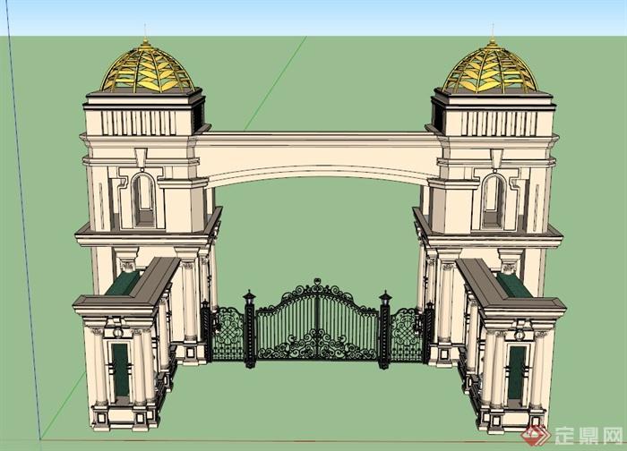 欧式建筑手工制作