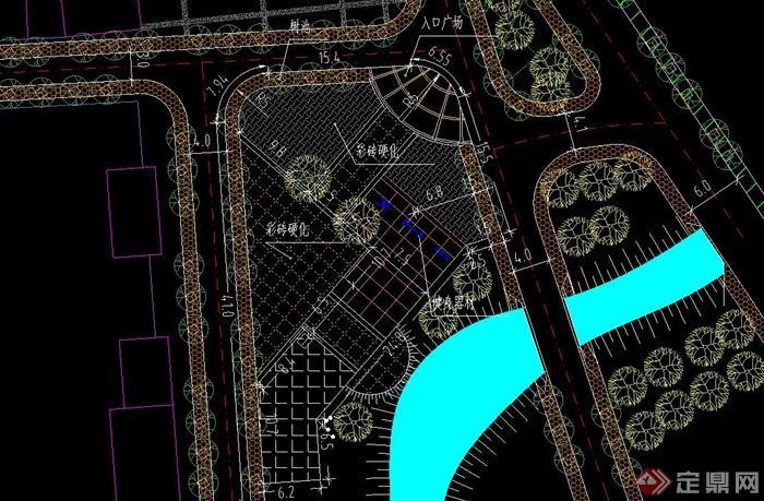 某村民广场景观设计方案图