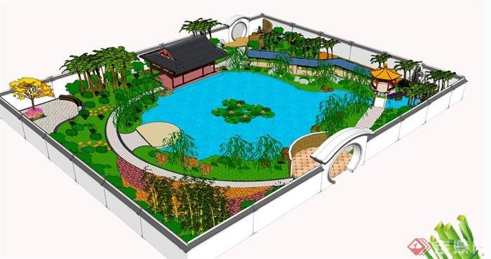 古典中式庭院景观设计jpg方案图[原创]
