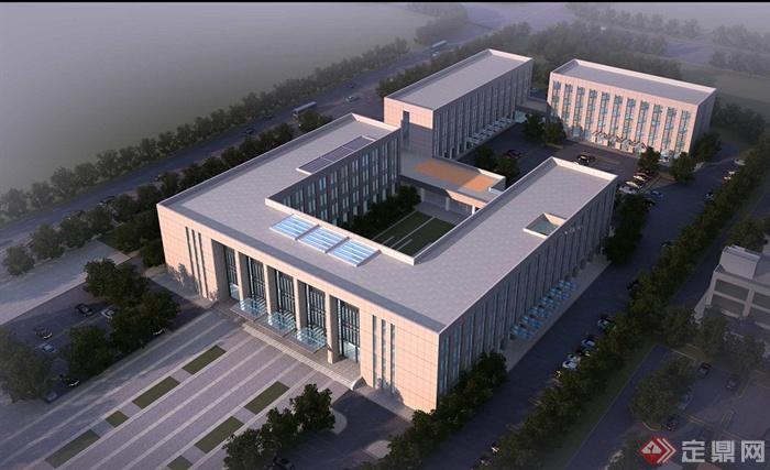 某现代多层行政中心办公楼建筑设计(cad+文本)[原创]