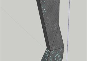 现代景观柱设计SU(草图大师)模型