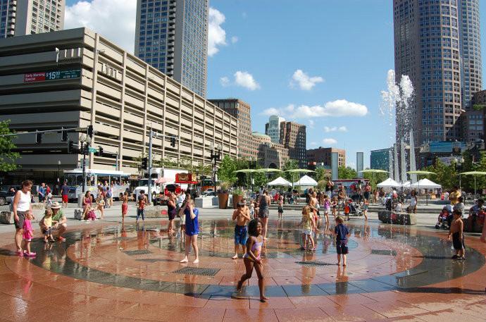 喷泉铺装广场_欧式喷泉跌水小广场JPG素材下载_铺装设计图