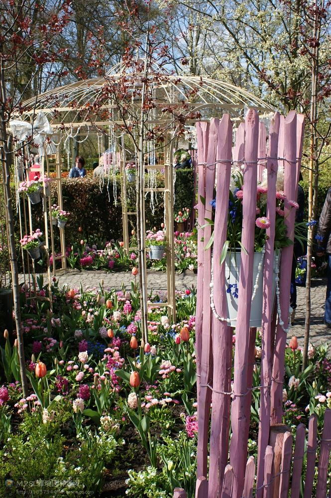 郊外花卉公园景观设计图-置物架花卉植物廊架-设计师