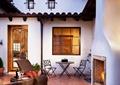 庭院景观,壁炉,桌椅,地面铺装