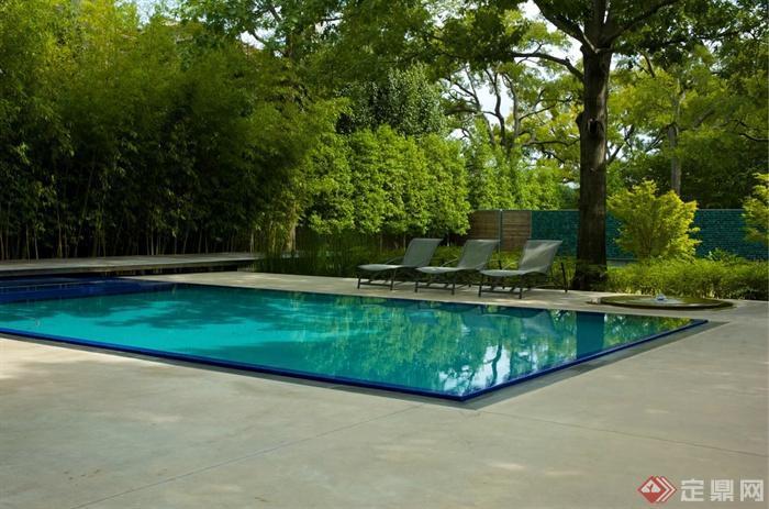 庭院图纸景观设计图-庭院竹子游泳池别墅乔木杨路v庭院澄景观新图片