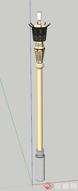 景观路灯设计su模型(1)