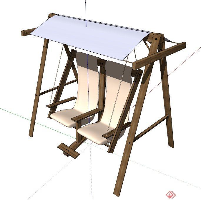 室外秋千椅设计su模型