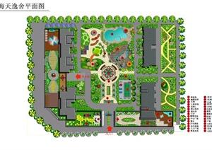 某居住区景观设计方案图