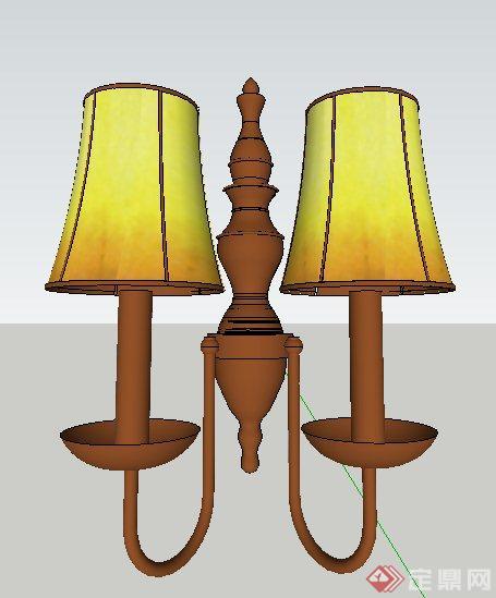 美式风格吊灯,壁灯su模型(3)