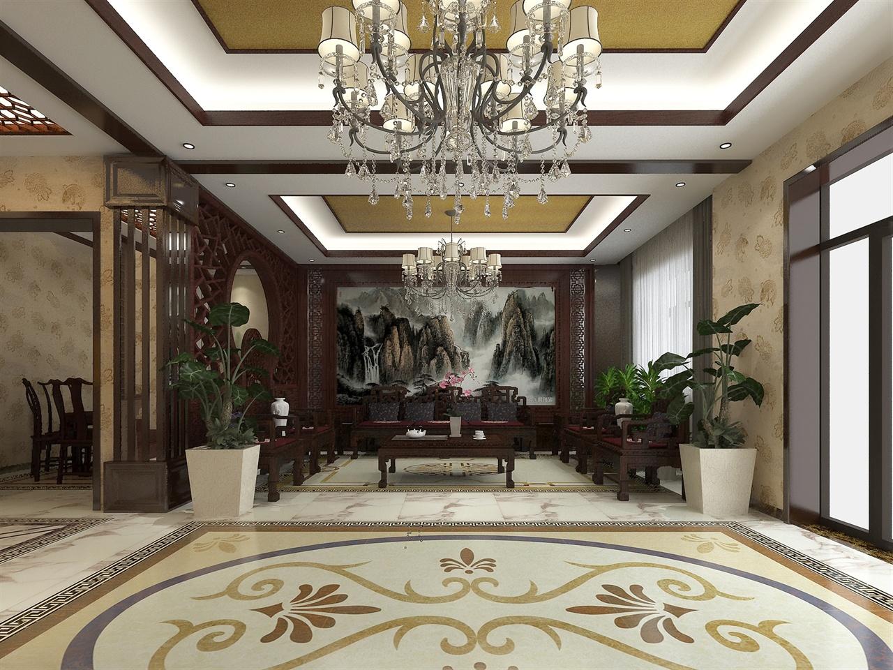 中式别墅室内装修图